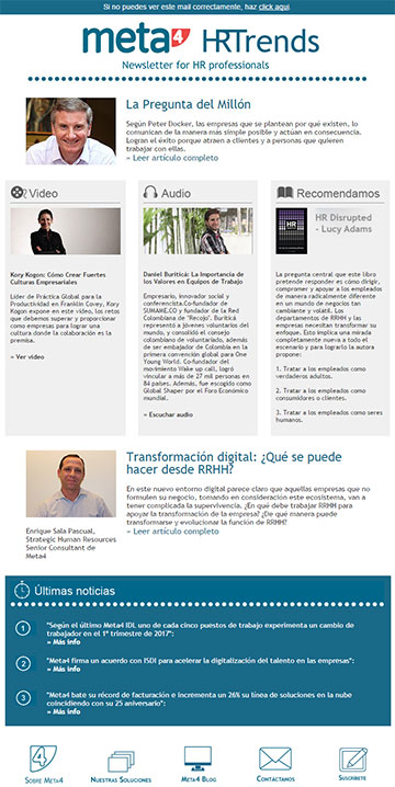 Meta4 HR Trends Transformación digital